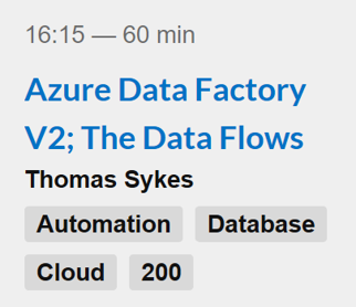 Azure Data Factory V2; The Data Flows session graphic